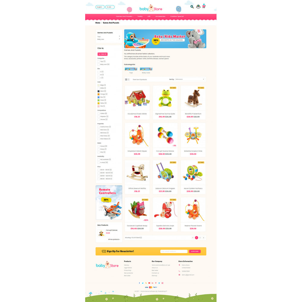 theme - Crianças & Brinquedos - Baby Toy Store - 3