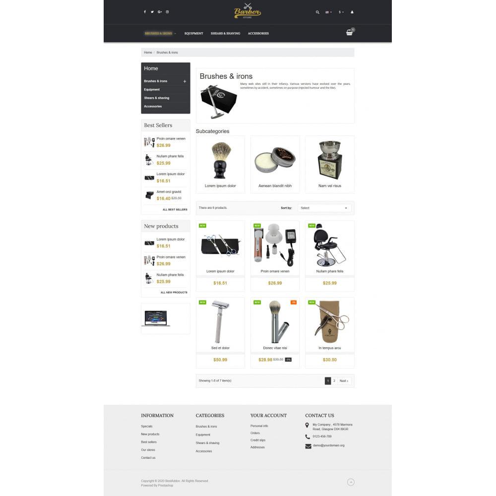 theme - Temas PrestaShop - VP_Barber - Page Builder - 3
