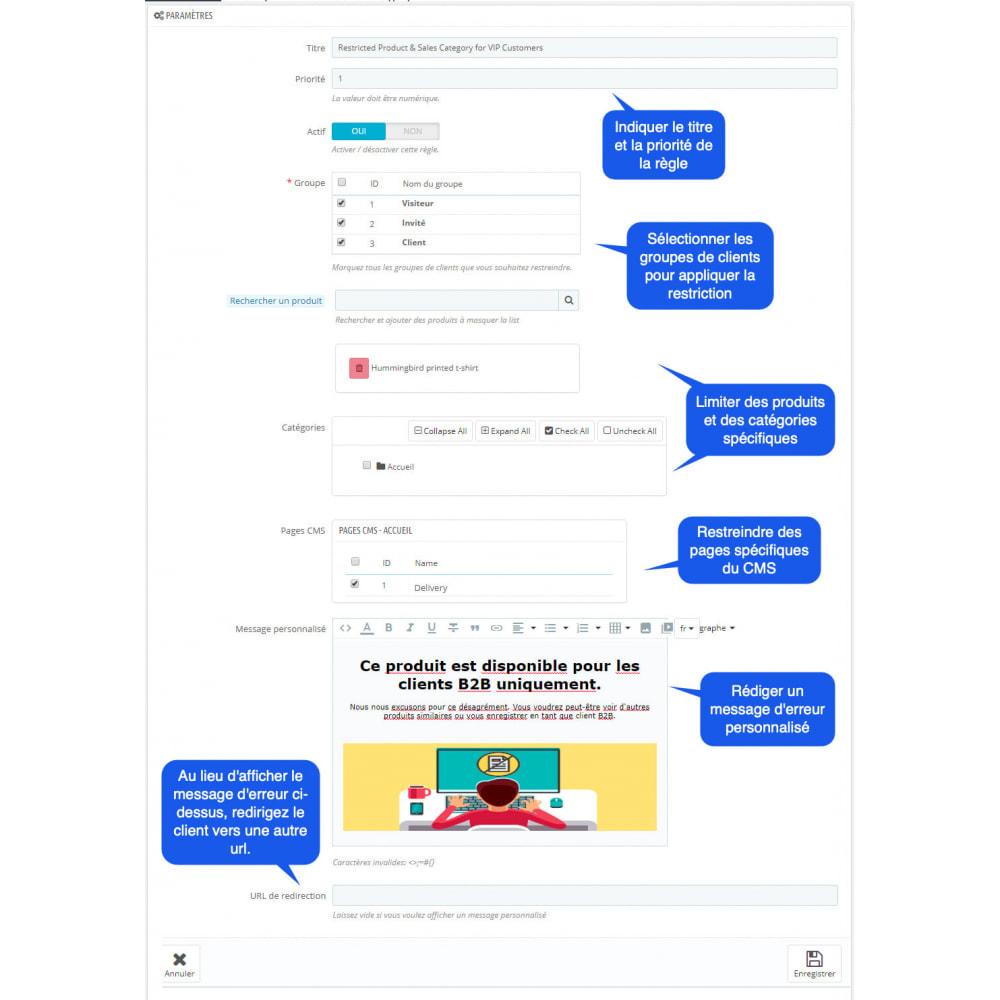 module - Gestion des clients - Produits Privés et Catégories par Groupes de Clients - 2