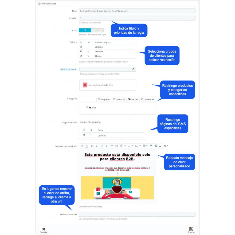 module - Gestión de clientes - Privar Productos y Categorías por Grupos de Clientes - 2