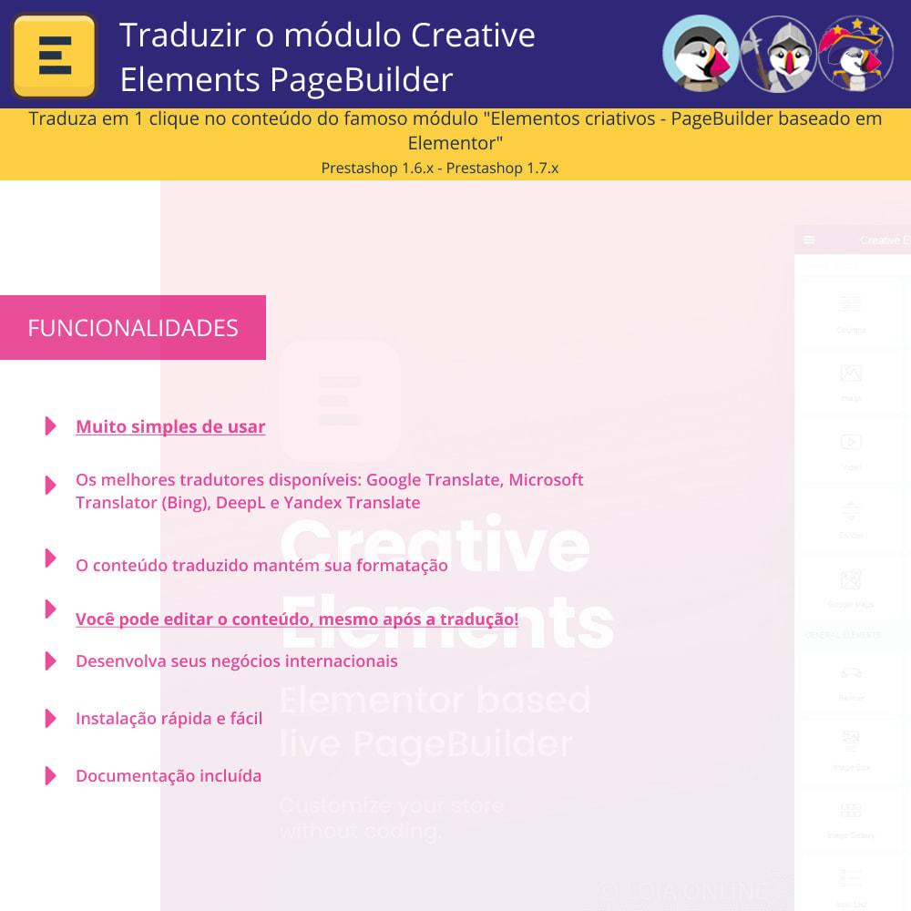 module - Internacional & Localização - Traduzir Elementor (Creative Elements e Iqit) - 1