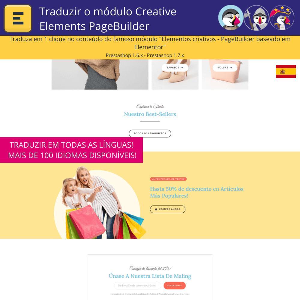 module - Internacional & Localização - Traduzir Elementor (Creative Elements e Iqit) - 4