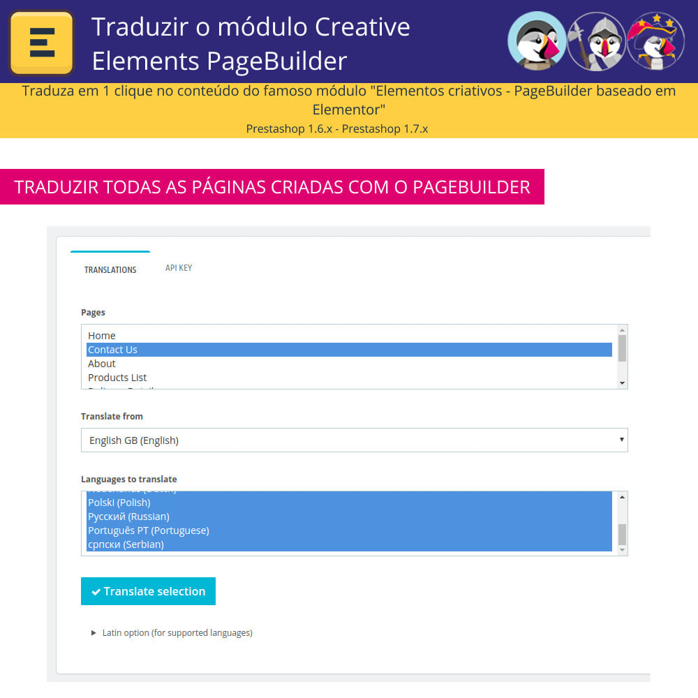 module - Internacional & Localização - Traduzir Elementor (Creative Elements e Iqit) - 5