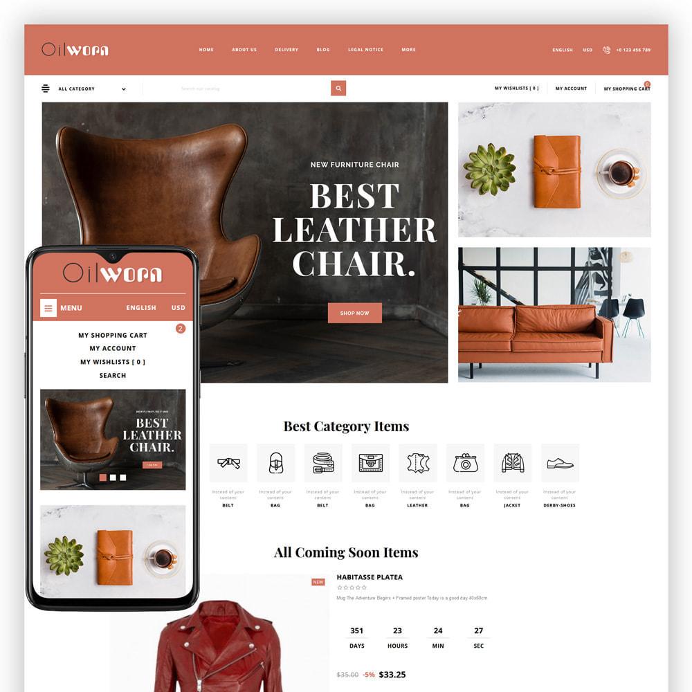 theme - Moda & Calçados - Oilworn - Leather Store - 1