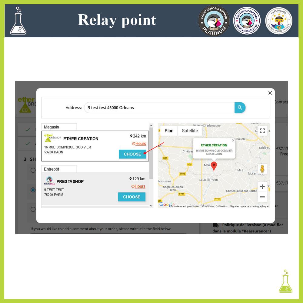 module - Paczkomaty & Odbiór w sklepie - Manage your relay points - 5