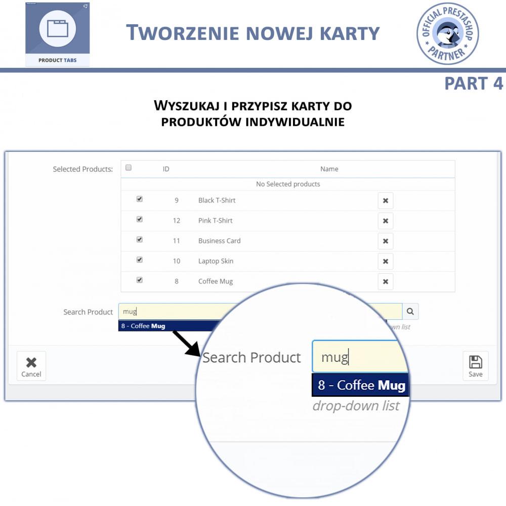 module - Dodatkowe informacje & Zakładka produktu - Karty produktu - Dodaj dodatkowe Karty Niestandardowe - 9