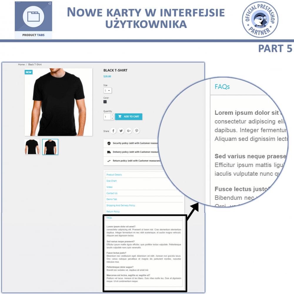 module - Dodatkowe informacje & Zakładka produktu - Karty produktu - Dodaj dodatkowe Karty Niestandardowe - 10