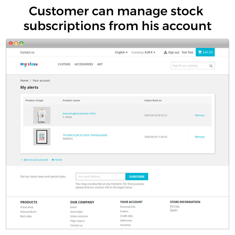 module - Notifications & Automatic Emails - Out of Stock Notifications - Back In Stock Alerts - 5