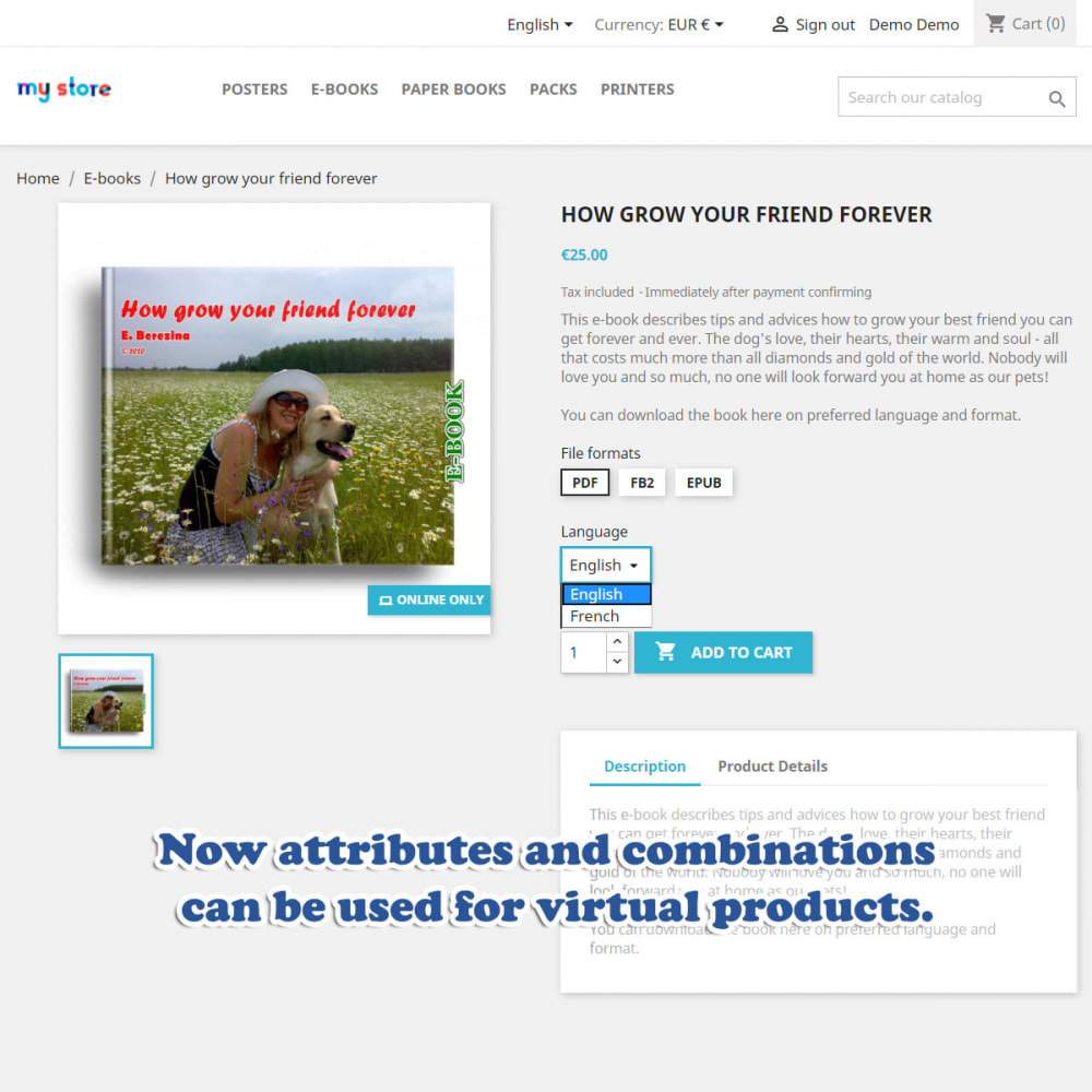 module - Digitale Produkt - Virtual products packs and downloads - 2