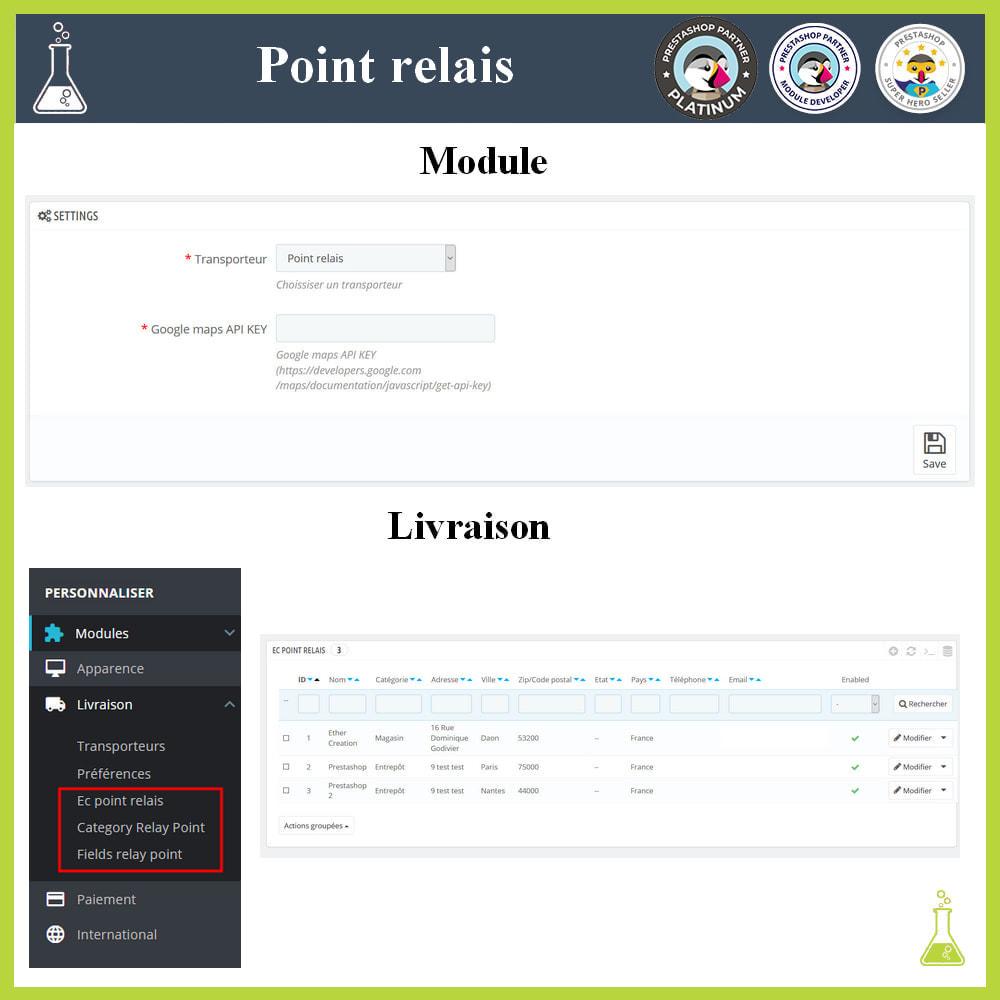 module - Point Relais & Retrait en Magasin - Gérer vos points relais - 1