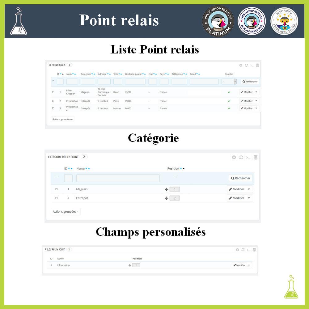 module - Point Relais & Retrait en Magasin - Gérer vos points relais - 2