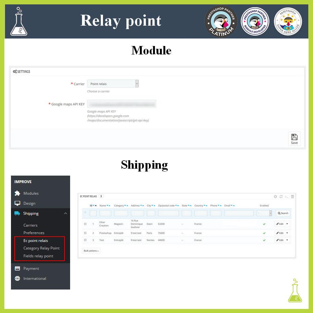 module - Paczkomaty & Odbiór w sklepie - Manage your relay points - 1