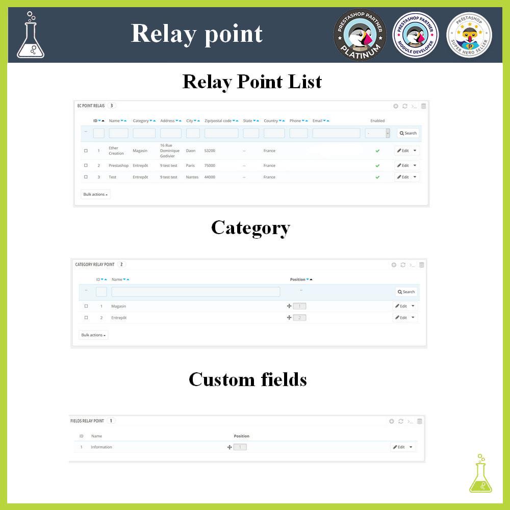 module - Paczkomaty & Odbiór w sklepie - Manage your relay points - 2