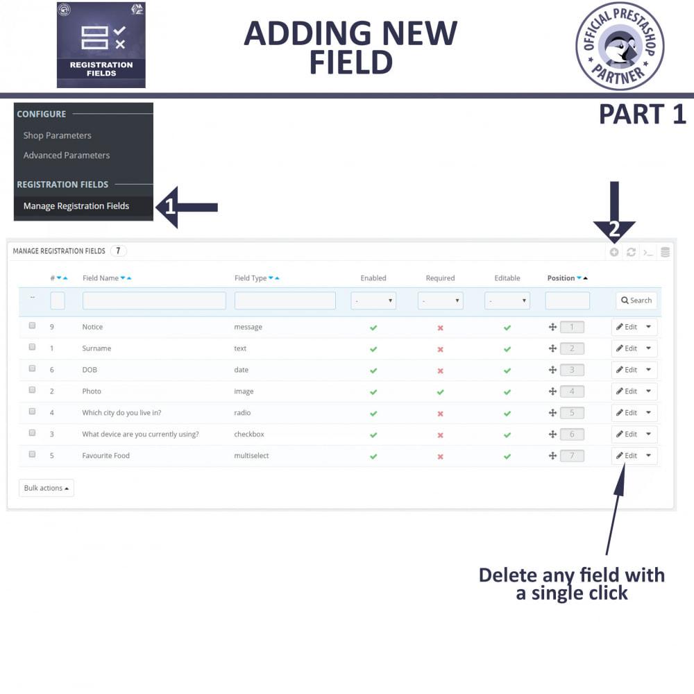 module - Registration & Ordering Process - Custom Registration Form - Add Registration Fields - 12