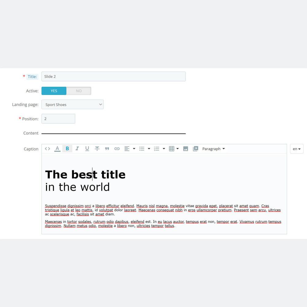 module - Productos en la página de inicio - Product Promo Landing Pages - 5