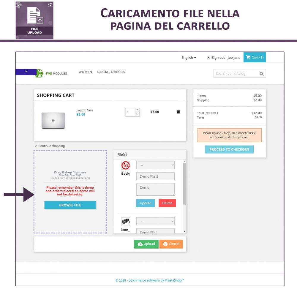 module - Altre informazioni & Product Tab - Caricamento File da Parte del Cliente - 4