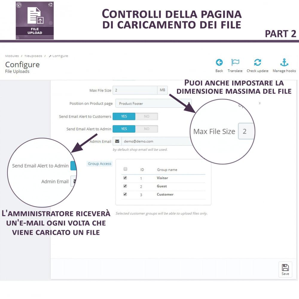 module - Altre informazioni & Product Tab - Caricamento File da Parte del Cliente - 9