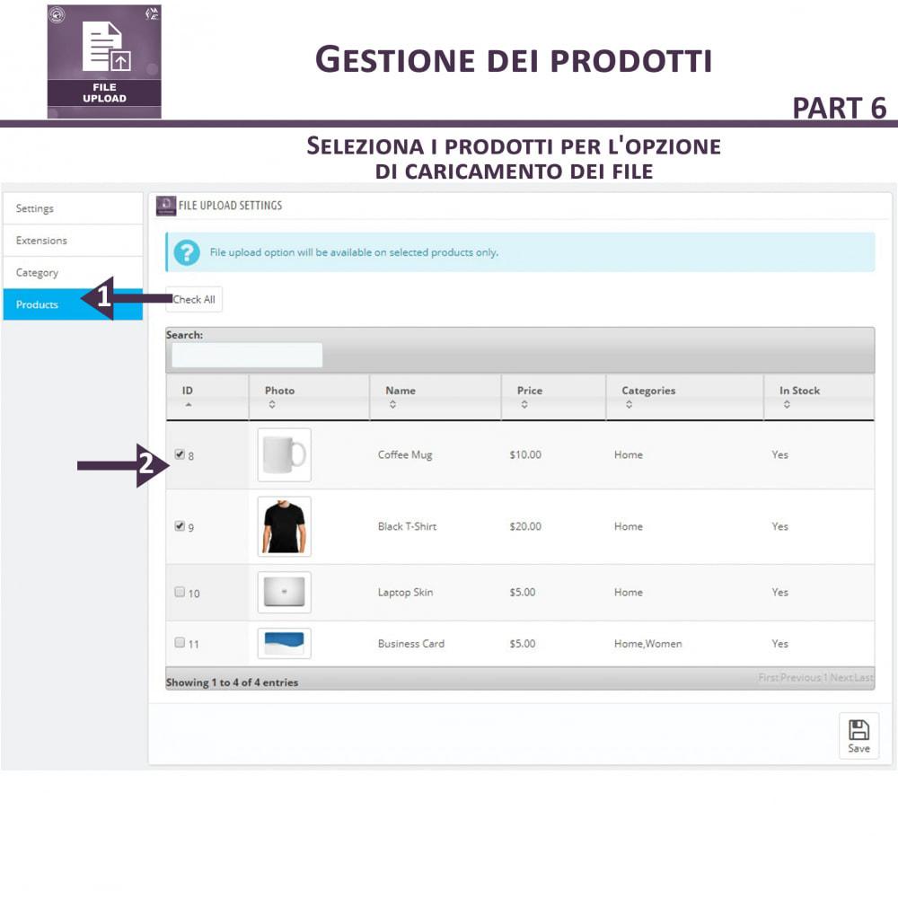 module - Altre informazioni & Product Tab - Caricamento File da Parte del Cliente - 13