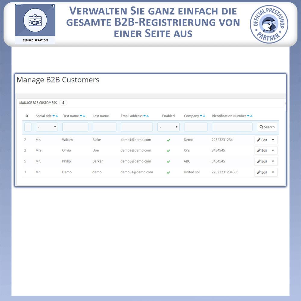 module - Anmeldung und Bestellvorgang - B2B-Registrierung - 8