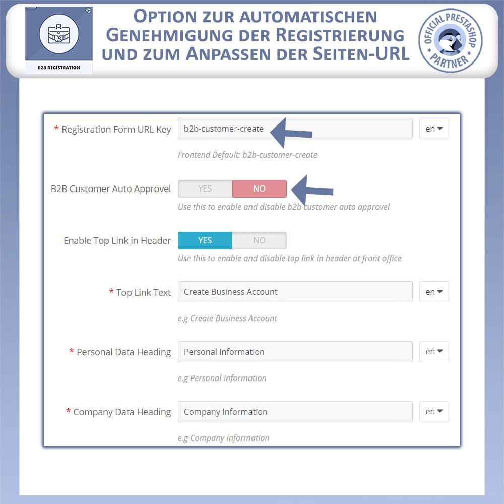 module - Anmeldung und Bestellvorgang - B2B-Registrierung - 9