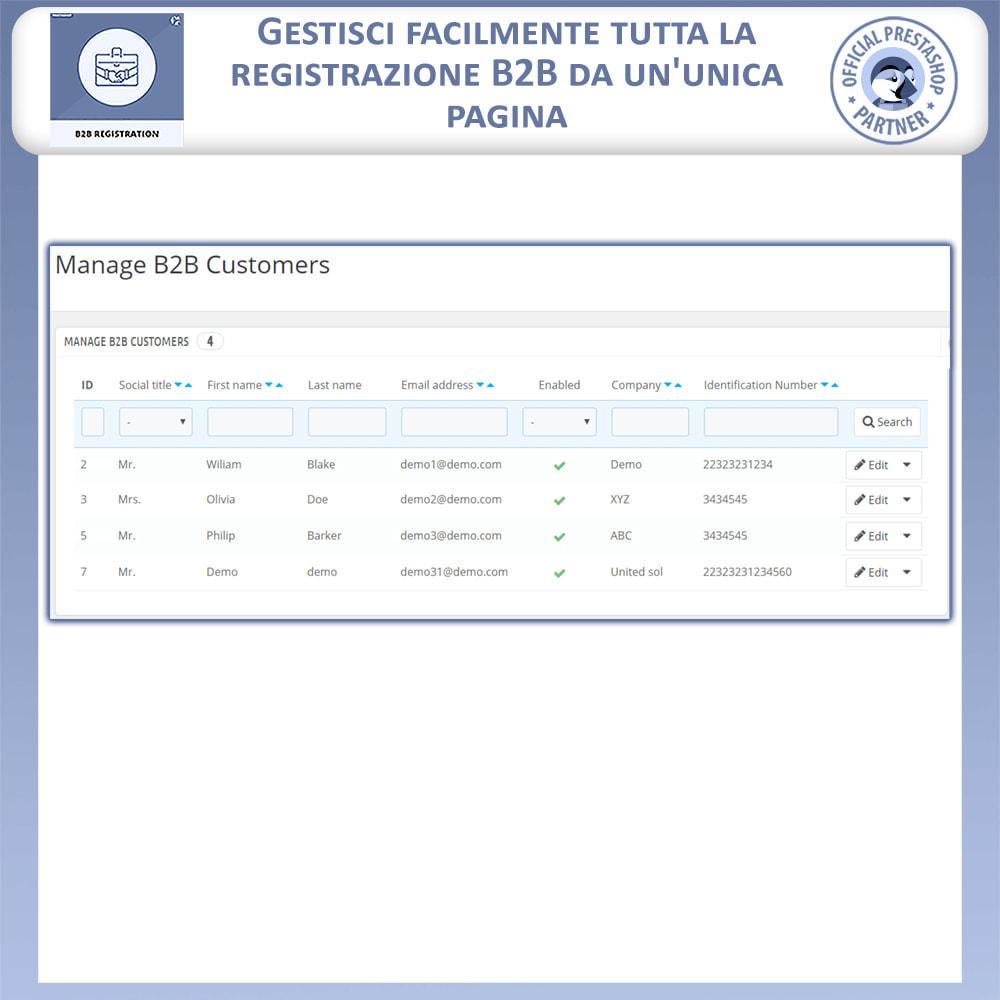 module - Iscrizione e Processo di ordinazione - Registrazione B2B - 8
