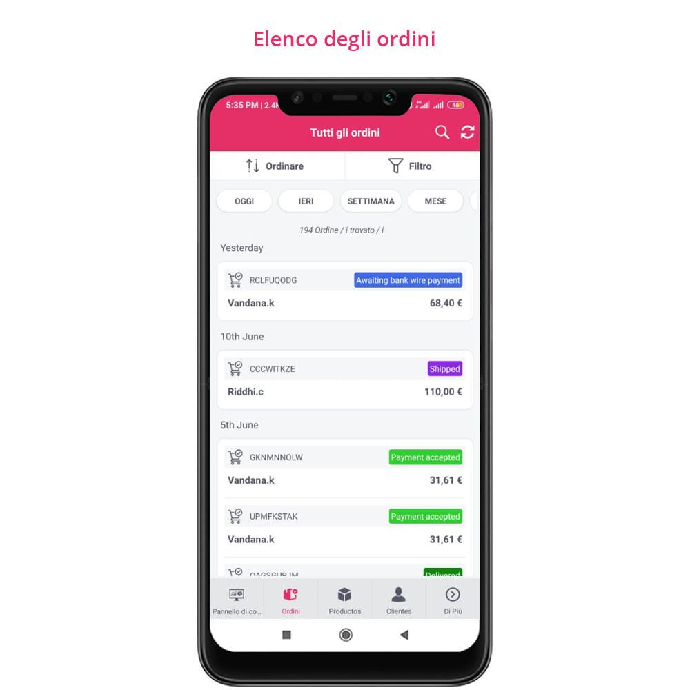 module - Dispositivi mobili - FE Presta Admin App - facile per gestire store admin - 18