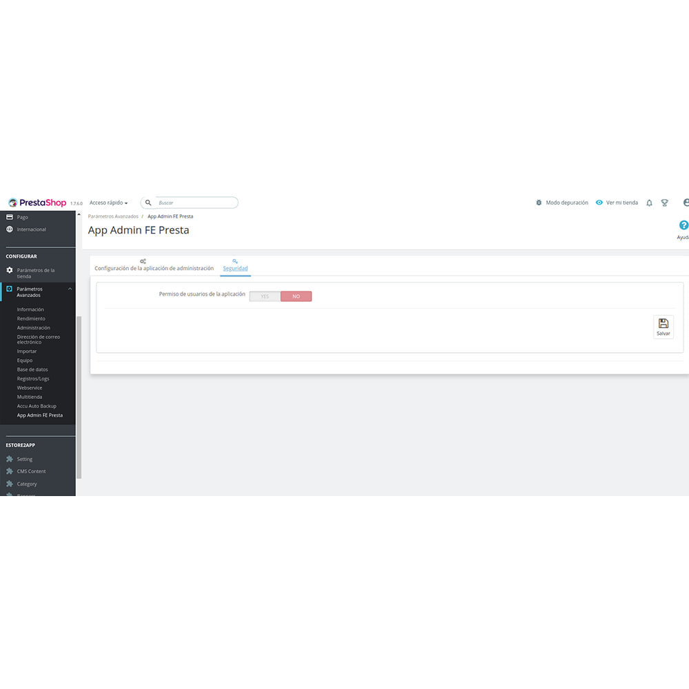 module - Dispositivos móviles - FE Presta Admin App - fácil a gestionar Tienda admin - 9