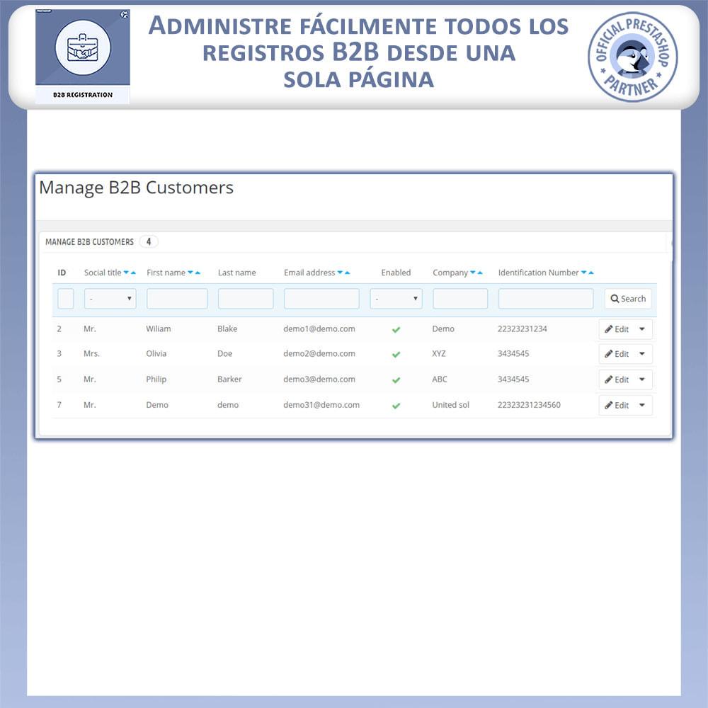 module - Inscripción y Proceso del pedido - Registro B2B - 8