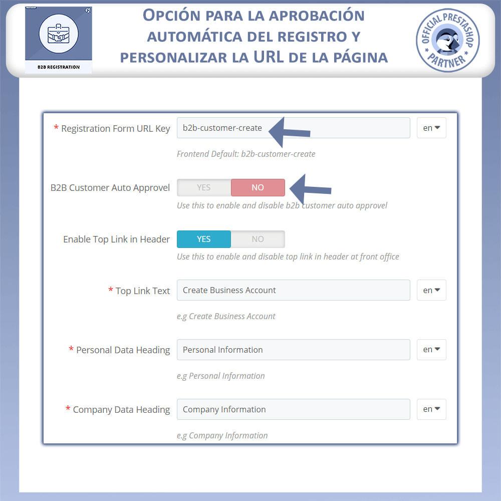 module - Inscripción y Proceso del pedido - Registro B2B - 9