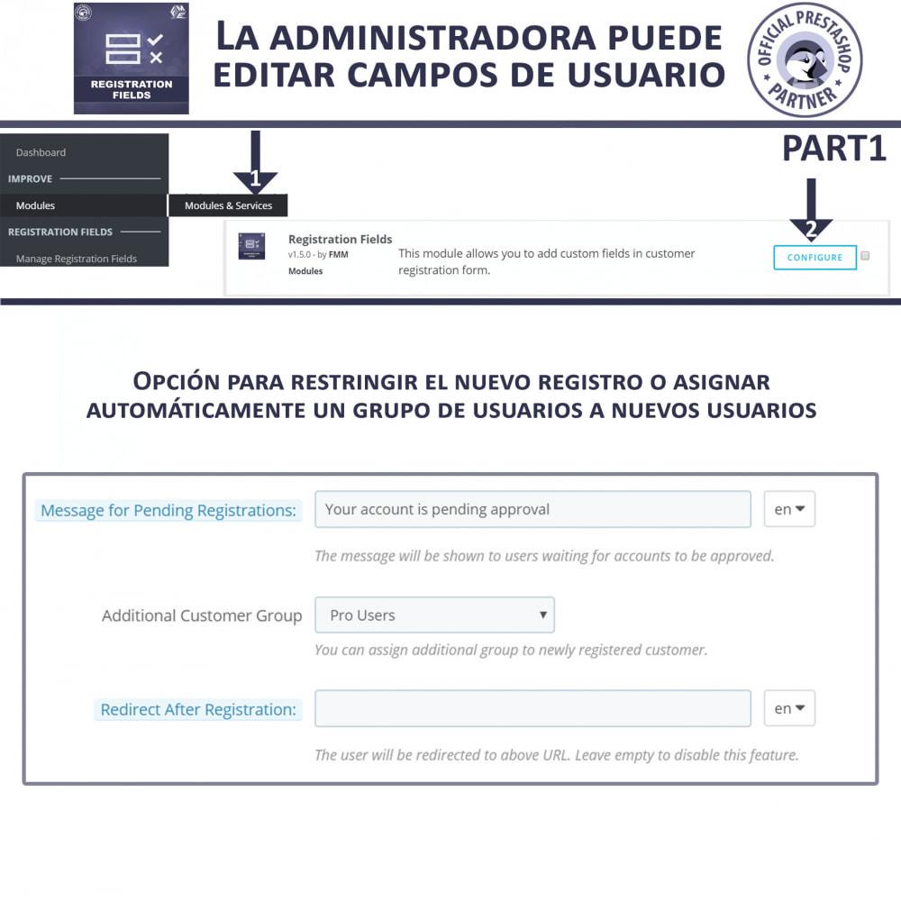 module - Inscripción y Proceso del pedido - Campos de Registro Personalizados - Validación - 7
