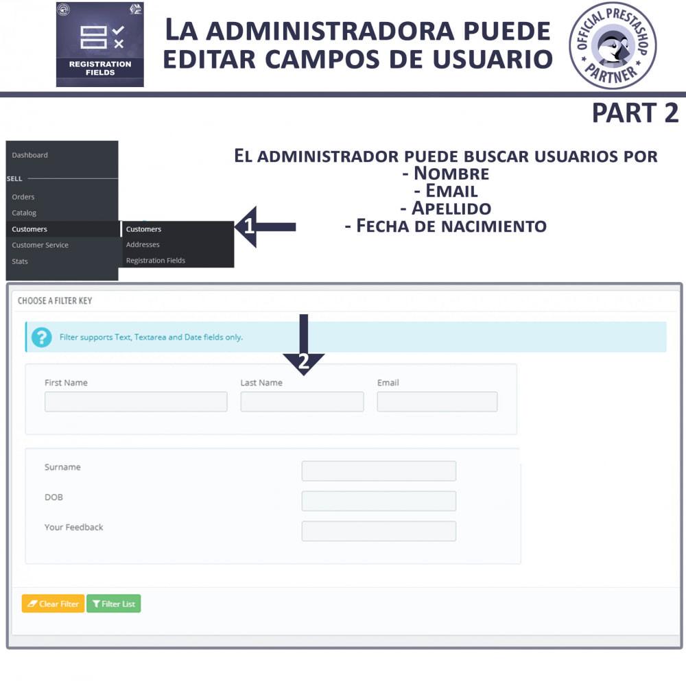 module - Inscripción y Proceso del pedido - Campos de Registro Personalizados - Validación - 8