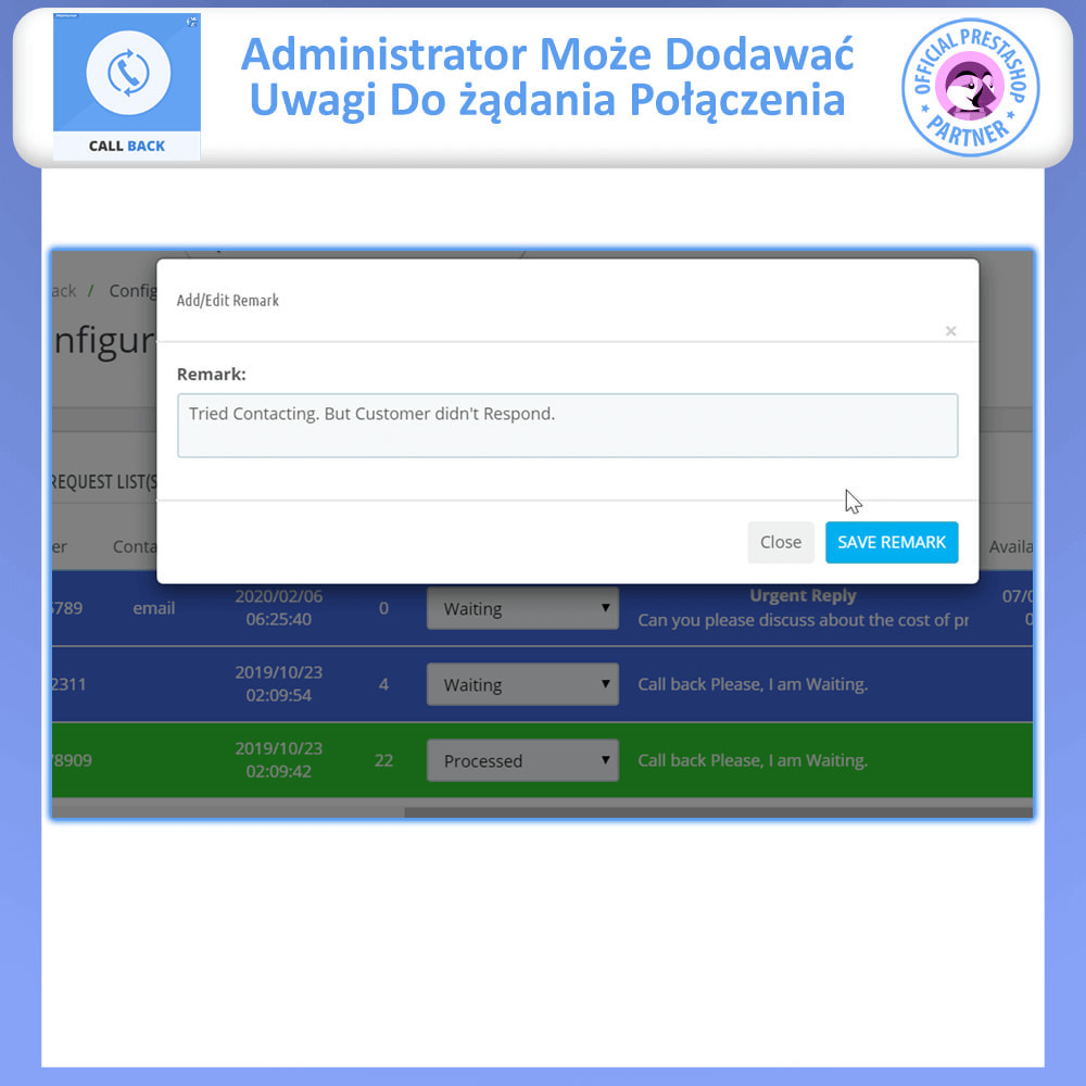 module - Wsparcie & Czat online - Call Back - Fixed & Floating Call Back Form - 7