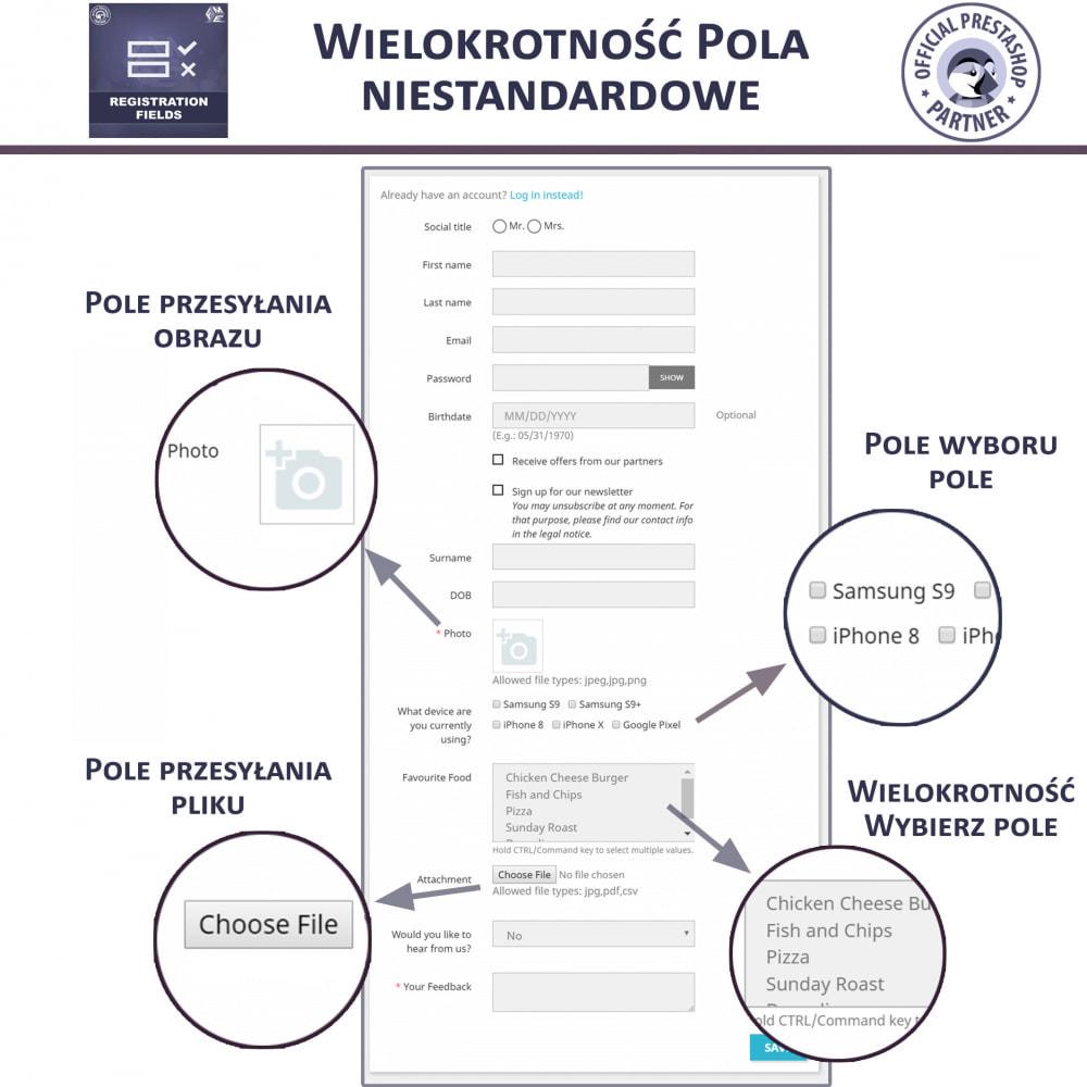 module - Procedury składania zamówień - Niestandardowe Pola Rejestracyjne - 2