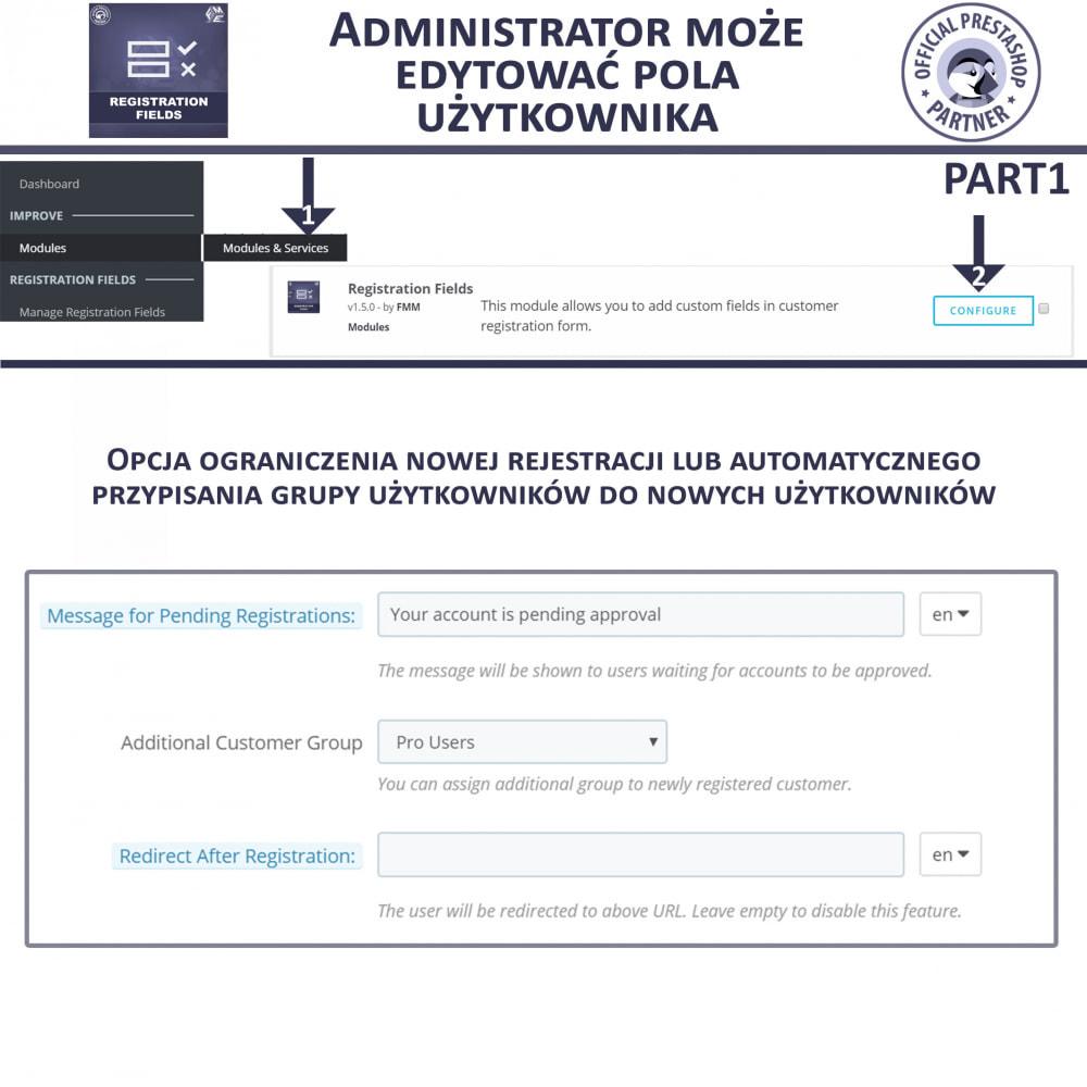 module - Procedury składania zamówień - Niestandardowe Pola Rejestracyjne - 7