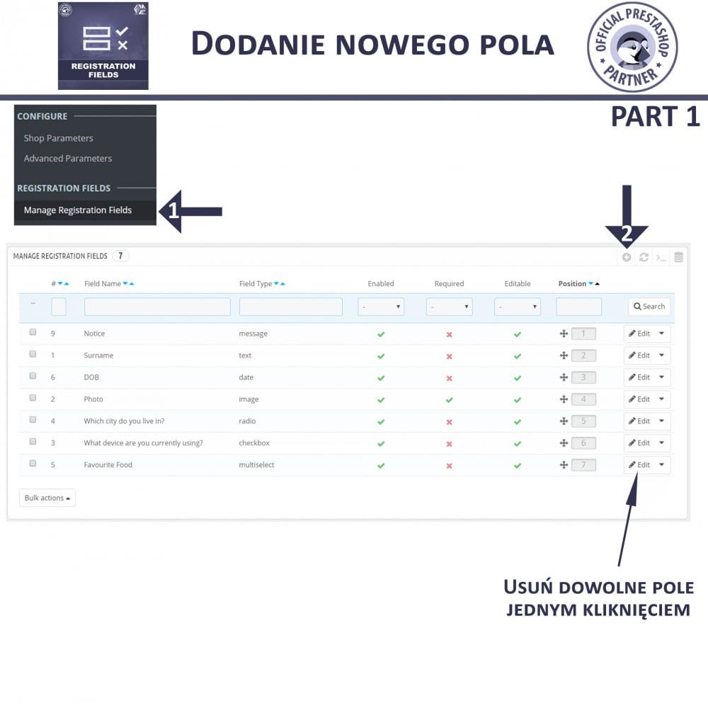 module - Procedury składania zamówień - Niestandardowe Pola Rejestracyjne - 10