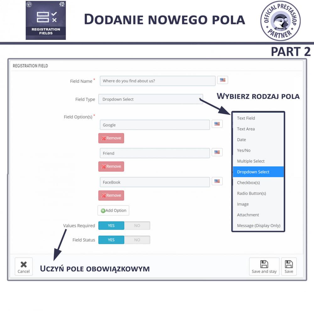 module - Procedury składania zamówień - Niestandardowe Pola Rejestracyjne - 11