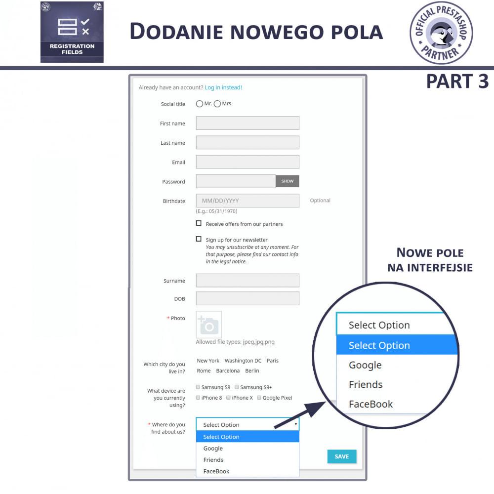 module - Procedury składania zamówień - Niestandardowe Pola Rejestracyjne - 12