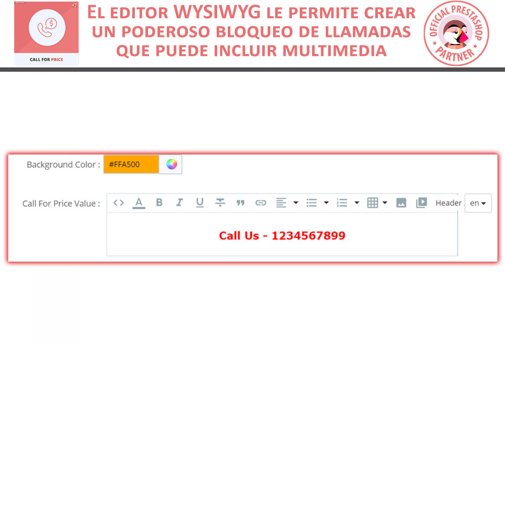 module - Gestión de Precios - Call For Price - Hide Price & Add To Cart - 5