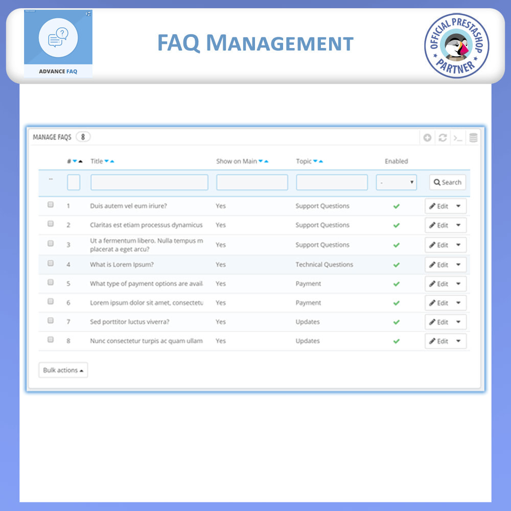 module - FAQ (Perguntas frequentes) - Frequently Asked Questions - FAQ Advance - 12