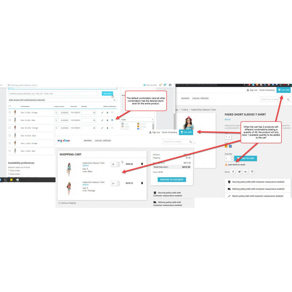 module - Combinations & Product Customization - Single Stock Attribute - Stock Control - 1