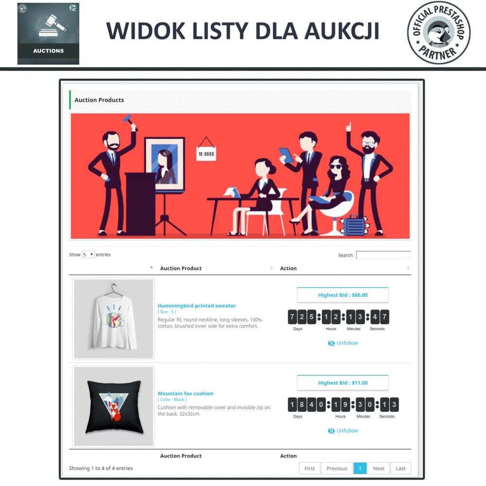 module - Zbuduj stronę aukcyjną - Aukcje Pro, Aukcje i Licytacje Online - 4