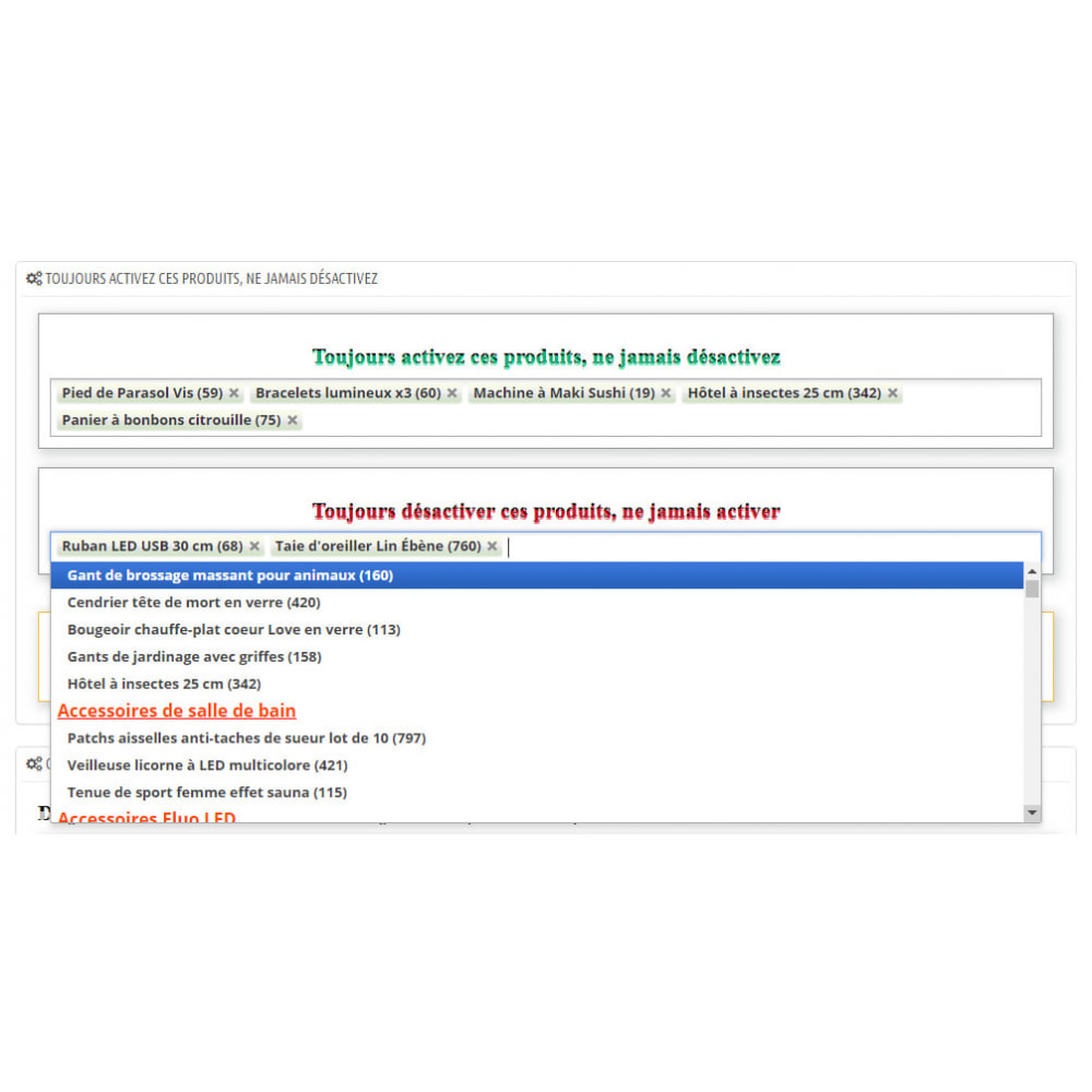 module - Estoques & Fornecedores - Enable or disable products automatically - 7