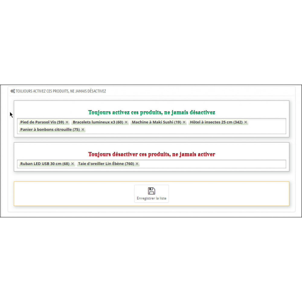 module - Estoques & Fornecedores - Enable or disable products automatically - 8