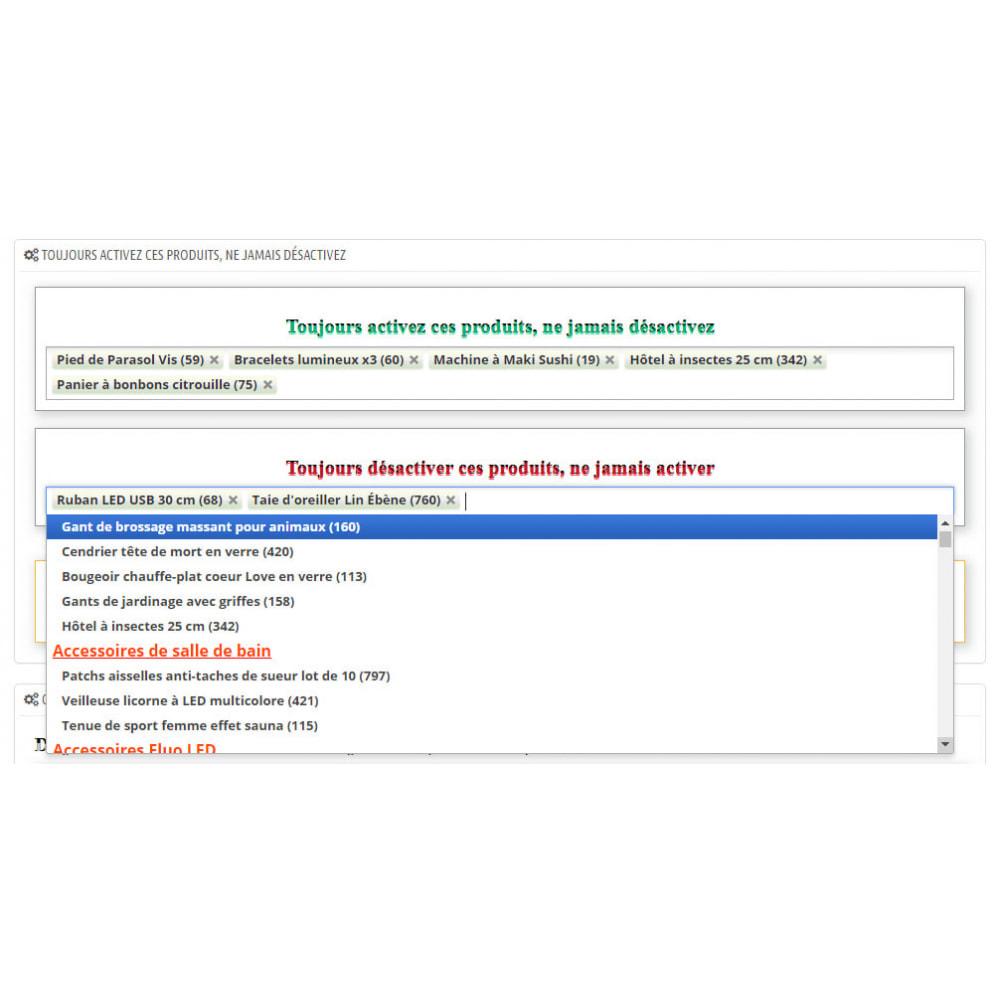 module - Gestion des Stocks & des Fournisseurs - Activer ou désactiver les produits automatiquement - 8
