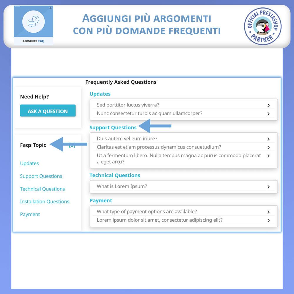 module - FAQ (Domande Frequenti) - Avanzate FAQ – Crea una Pagina Dedicata per FAQ - 4