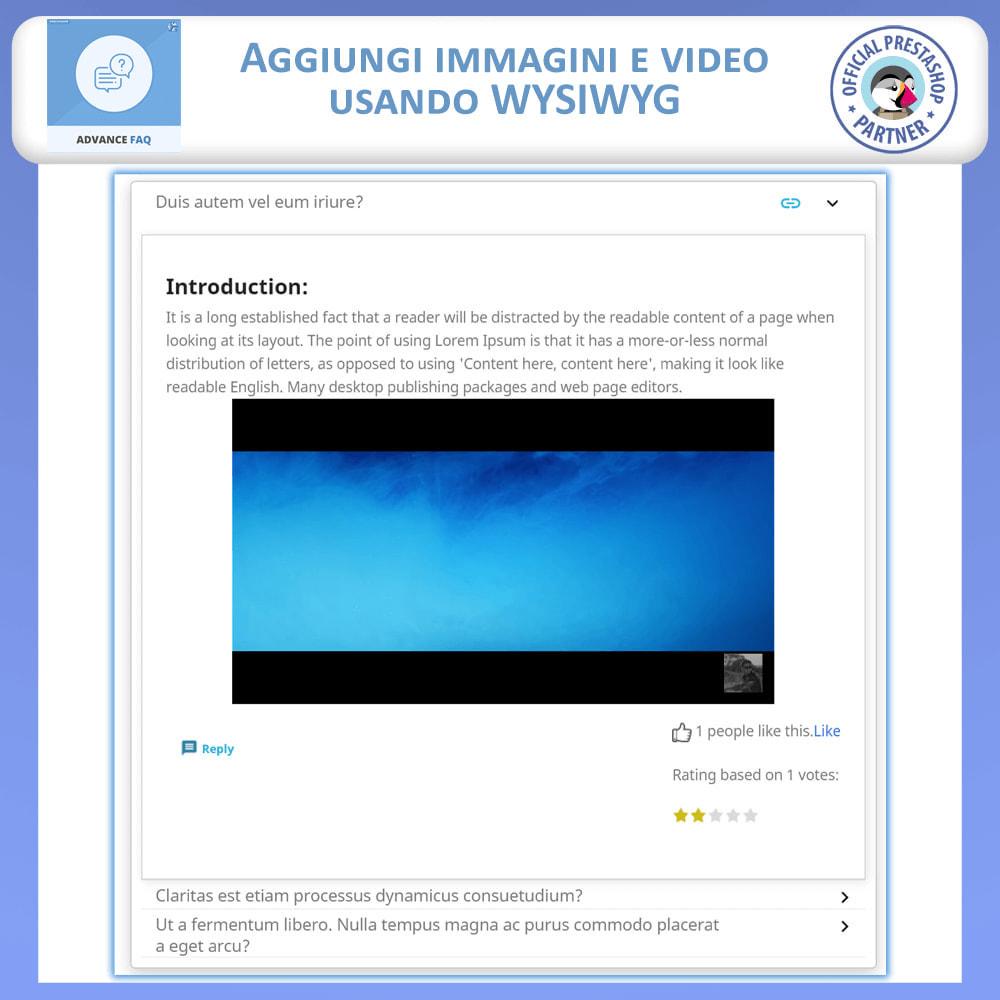 module - FAQ (Domande Frequenti) - Avanzate FAQ – Crea una Pagina Dedicata per FAQ - 7