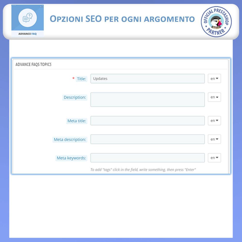 module - FAQ (Domande Frequenti) - Avanzate FAQ – Crea una Pagina Dedicata per FAQ - 11