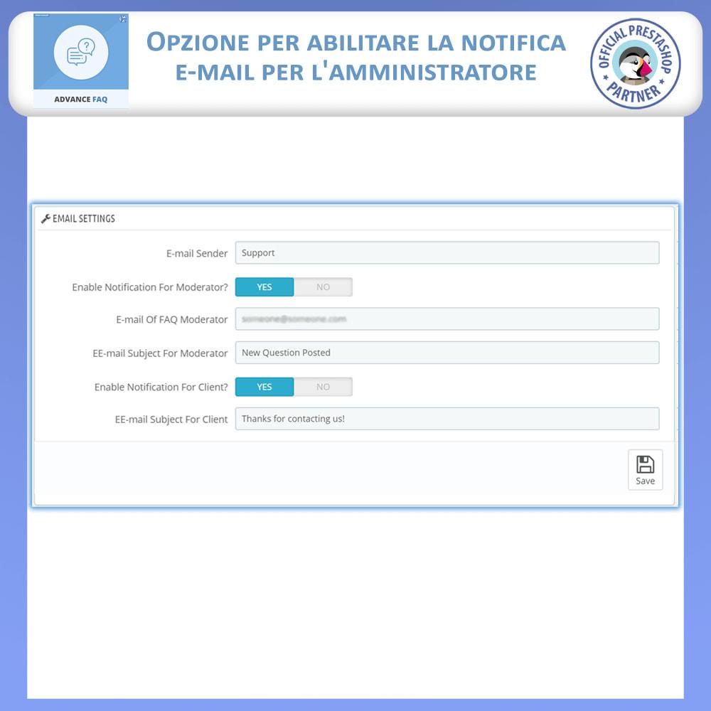 module - FAQ (Domande Frequenti) - Avanzate FAQ – Crea una Pagina Dedicata per FAQ - 12