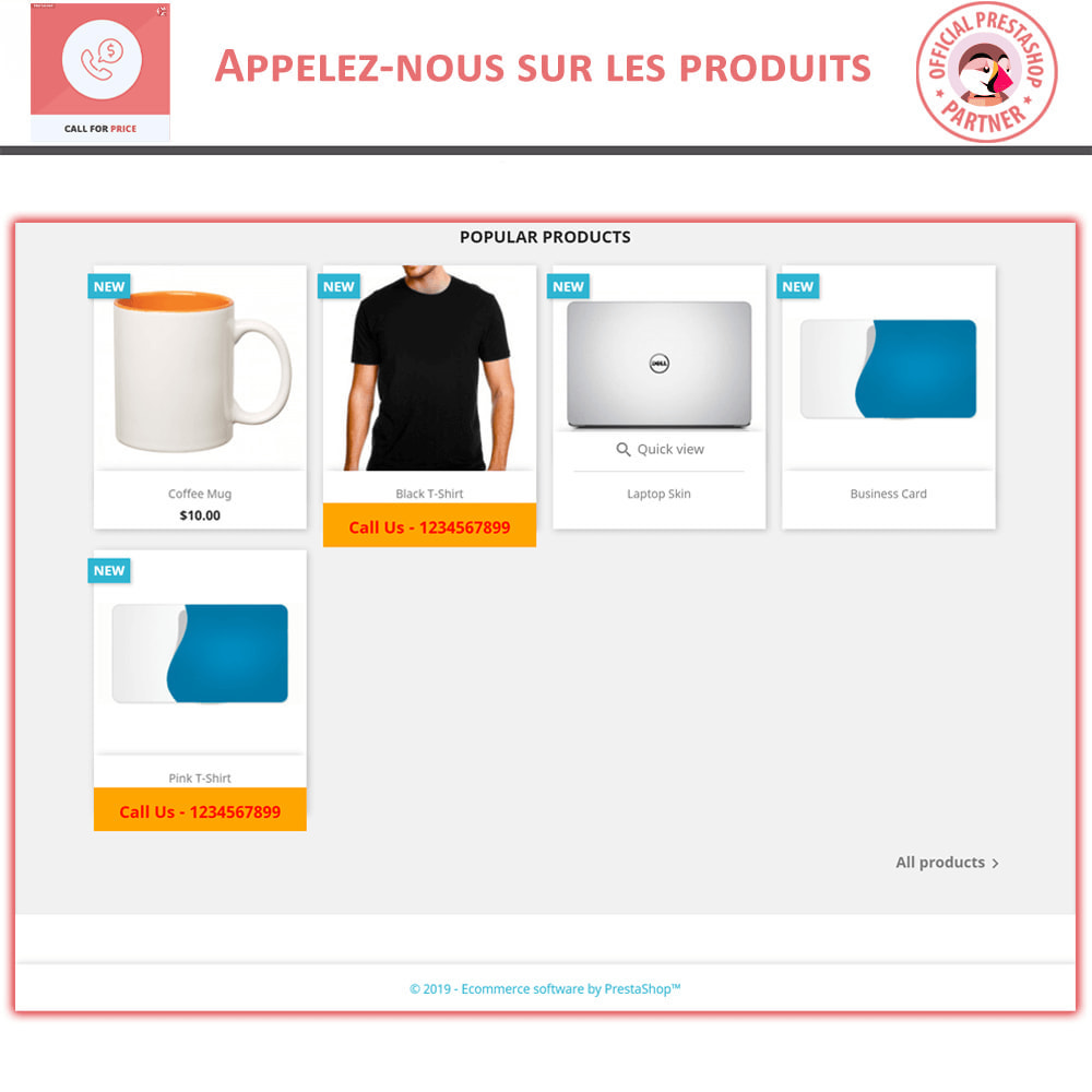 module - Gestion des Prix - Call For Price - Hide Price & Add To Cart - 2