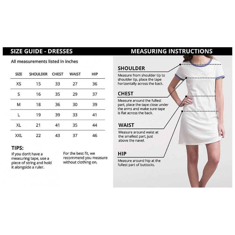 module - Zusatzinformationen & Produkt-Tabs - Product Size Chart - Ultimate - 3